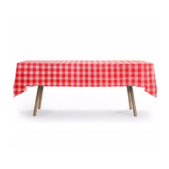 PLAID TABLE COVER