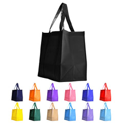 10 CT | Non-Woven Large Reusable Multi-Purpose Grocery Bags