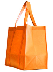 Non-Woven Bag, reusable grocery bag, fabric bags, reusable non-woven tote bags, orange grocery bags, school bags, lunch bags