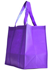 Non-Woven Bag, reusable grocery bag, fabric bags, reusable non-woven tote bags, purple grocery bags, school bags, lunch bags