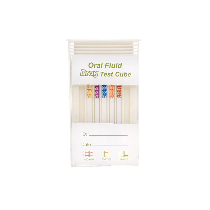 6 Panel Premium Saliva Drug Test - Box of 25 - Teststock.co