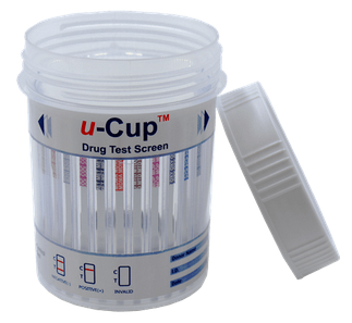 u-CUP CLIA Waived 10 Panel Test Cup (A1001M-A3A) - (Box of 25) - Teststock.co