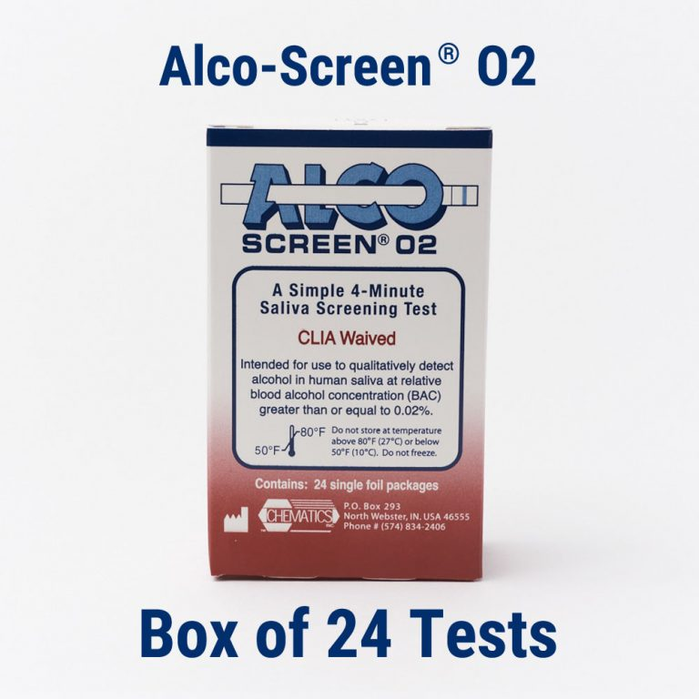 Alco-Screen 02 D.O.T. Approved Saliva Alcohol Test Strips - 24 Pack - Teststock.co
