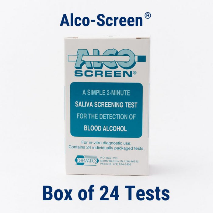 Alco-Screen 01 CLIA-Waived Alcohol Test Strips - 24 Pack - Teststock.co