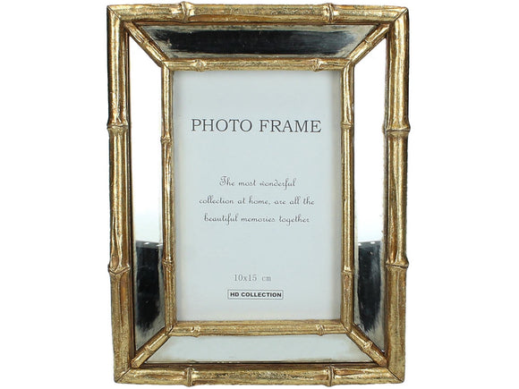 Bamboo Mirrored Frame