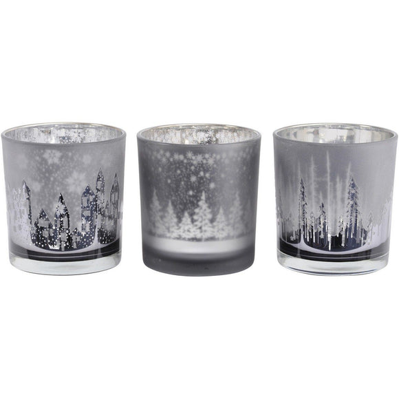 Festive Trees Candle Holders