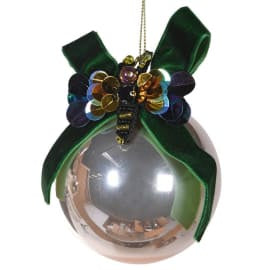Green Ribbon and Bee Bauble