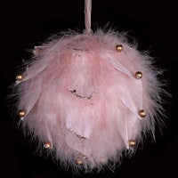 Soft Pink Feather Bauble