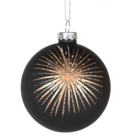 Black Starburst bauble