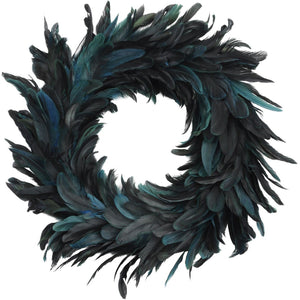 Blue Feather Wreath