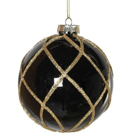 Black bauble with Gold Weave