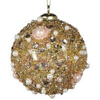 Gold Pearl Beaded bauble