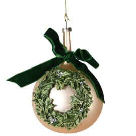 Gold Wreath Bauble