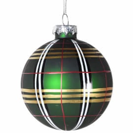 Green Check Bauble