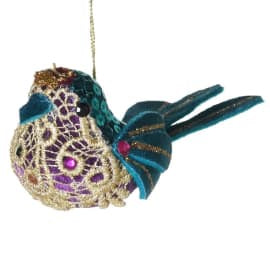 Blue sequined Bird Dec