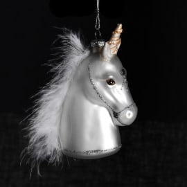 Unicorn with feathers bauble