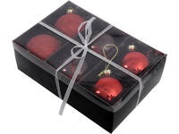 6 Red baubles Lg