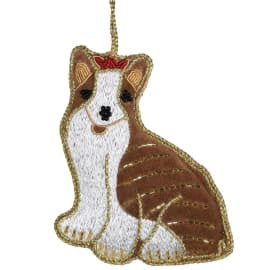Corgi Embroidered Dec