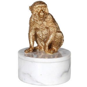 Gold Monkey Trinket Box
