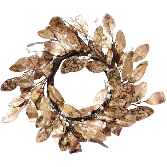 Magnolia Leaf Gold Wreath