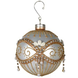 Gold Beaded Bauble
