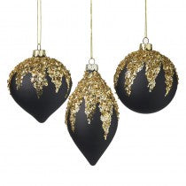 Glitter topped Baubles