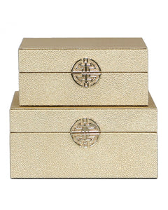 Pair Gold Jewellery Boxes