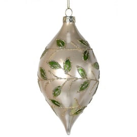 Silver Mistletoe bauble