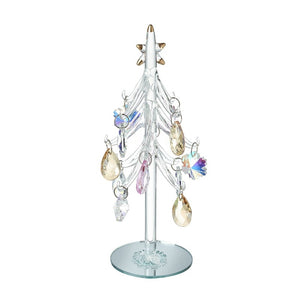 Glass Xmas Tree with droplet baubles