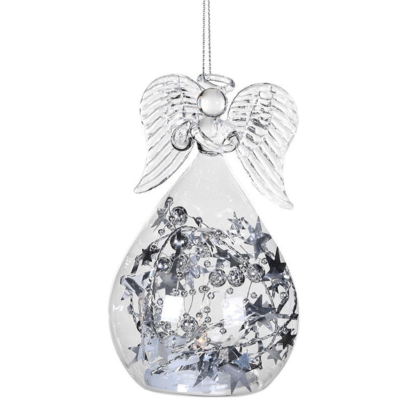 Silver Star LED Angel