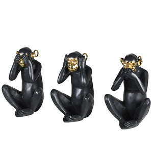 No Evil Monkeys Set of 3