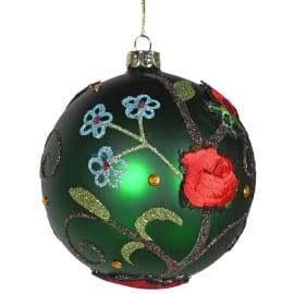 Green Flower bauble