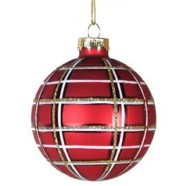 Red Tartan Bauble