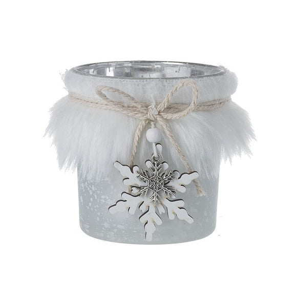Glacial Frost Candle Holder Small
