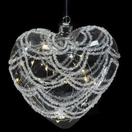 LED Remote Swag Heart Bauble
