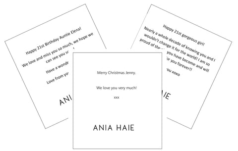 Ania Haie Gift Messages