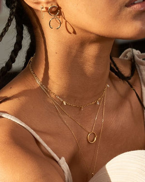 Necklace: Gold Luxe Circle Necklace by Ania Haie Australia
