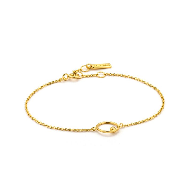 Orbit Chain Circle Bracelet - Ania Haie Jewellery