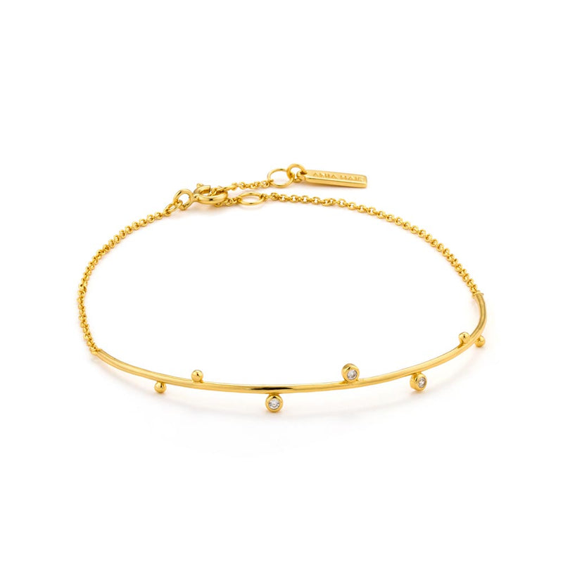 Shimmer Solid Bar Stud Bracelet - Ania Haie Jewellery