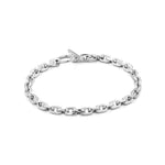 Silver Chain Hook Bracelet with T-Bar Clasp