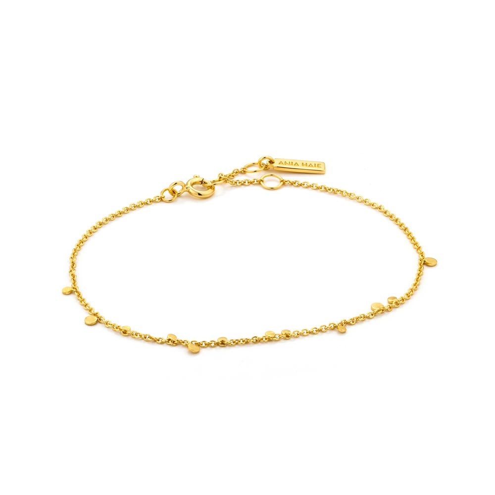 Gold Geometry Mixed Discs Bracelet