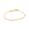 Bracelet: Gold Geometry Mixed Discs Bracelet by Ania Haie Australia