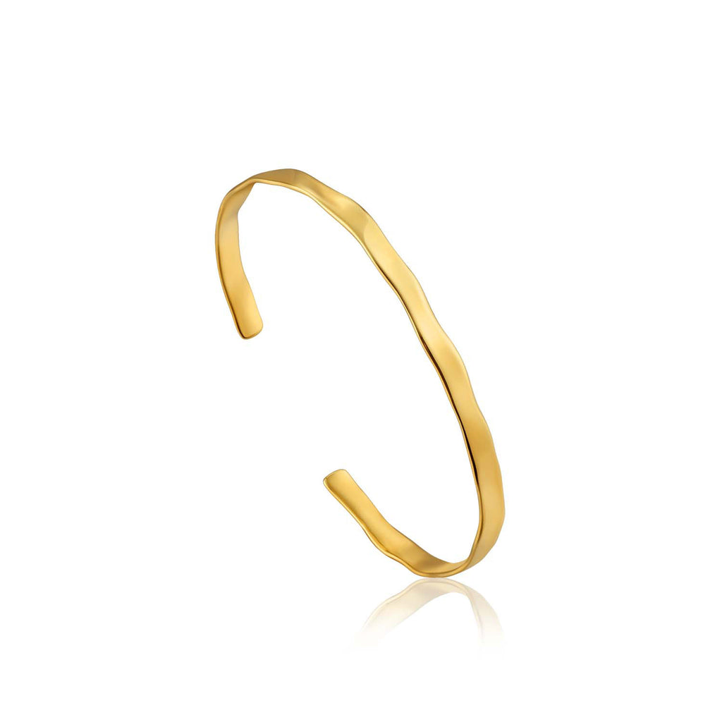 Bracelet: Gold Crush Cuff by Ania Haie Australia