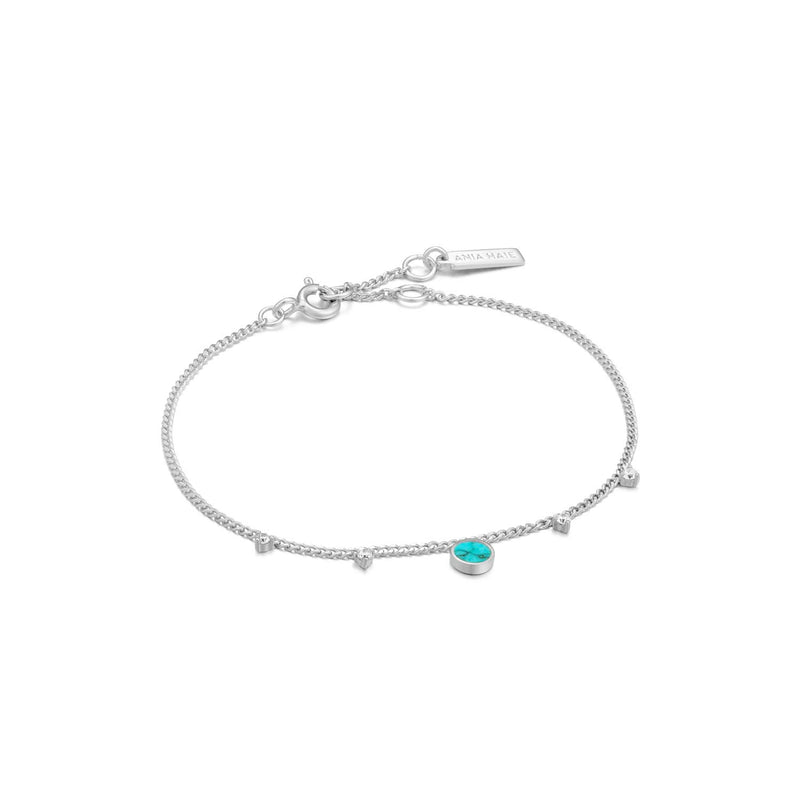 Turquoise Drop Disc Bracelet - Ania Haie Jewellery