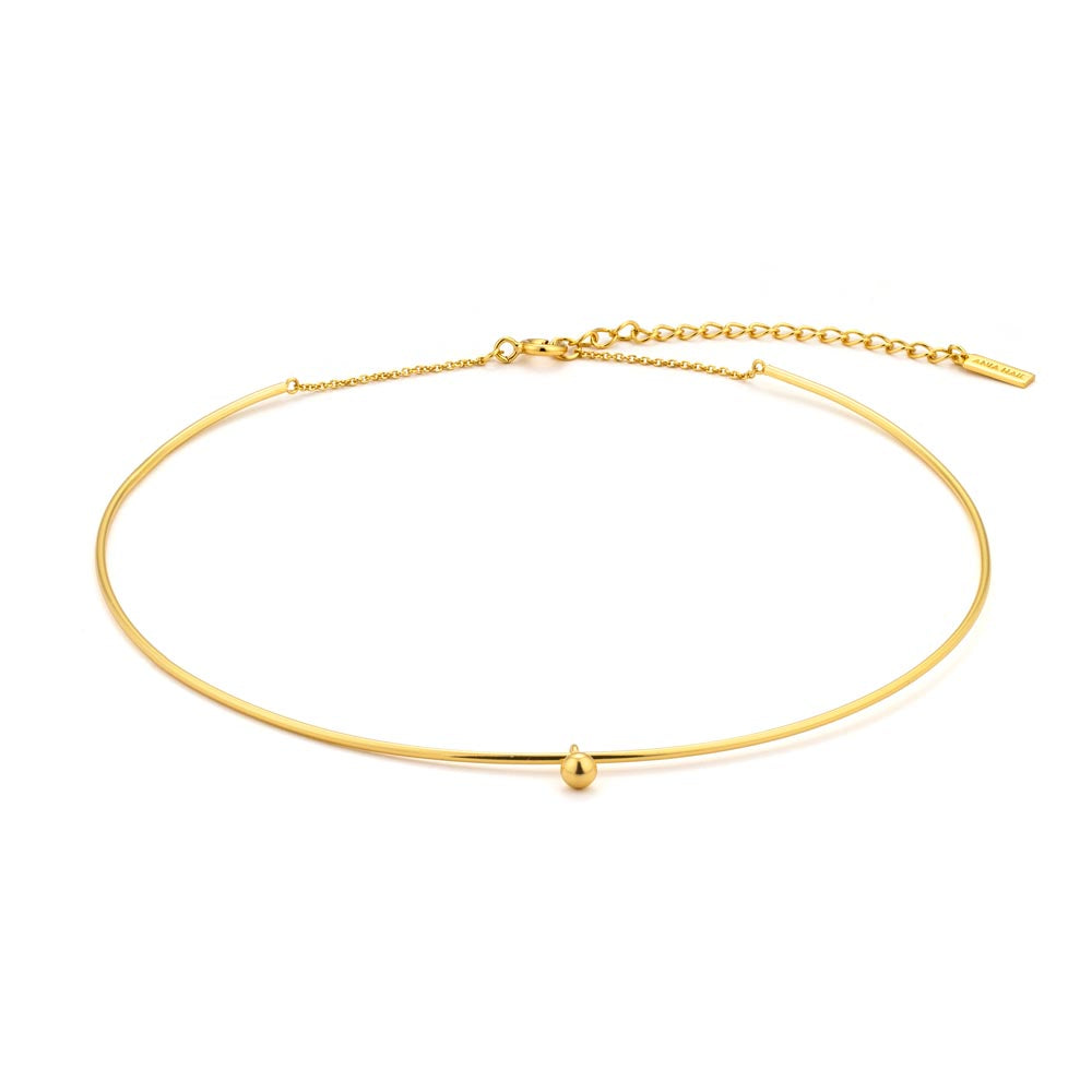 Necklace: Gold Orbit Solid Choker by Ania Haie Australia