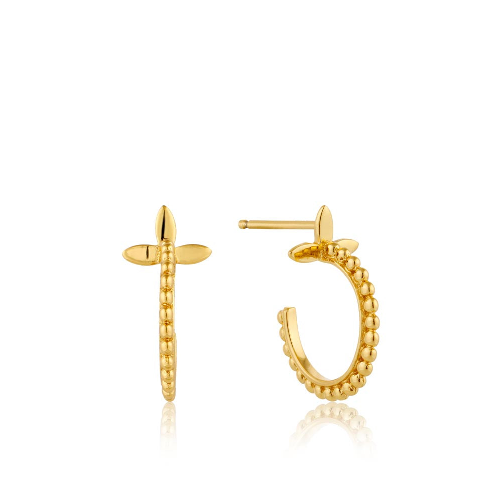 Modern Beaded Hoop Earrings - Ania Haie Jewellery