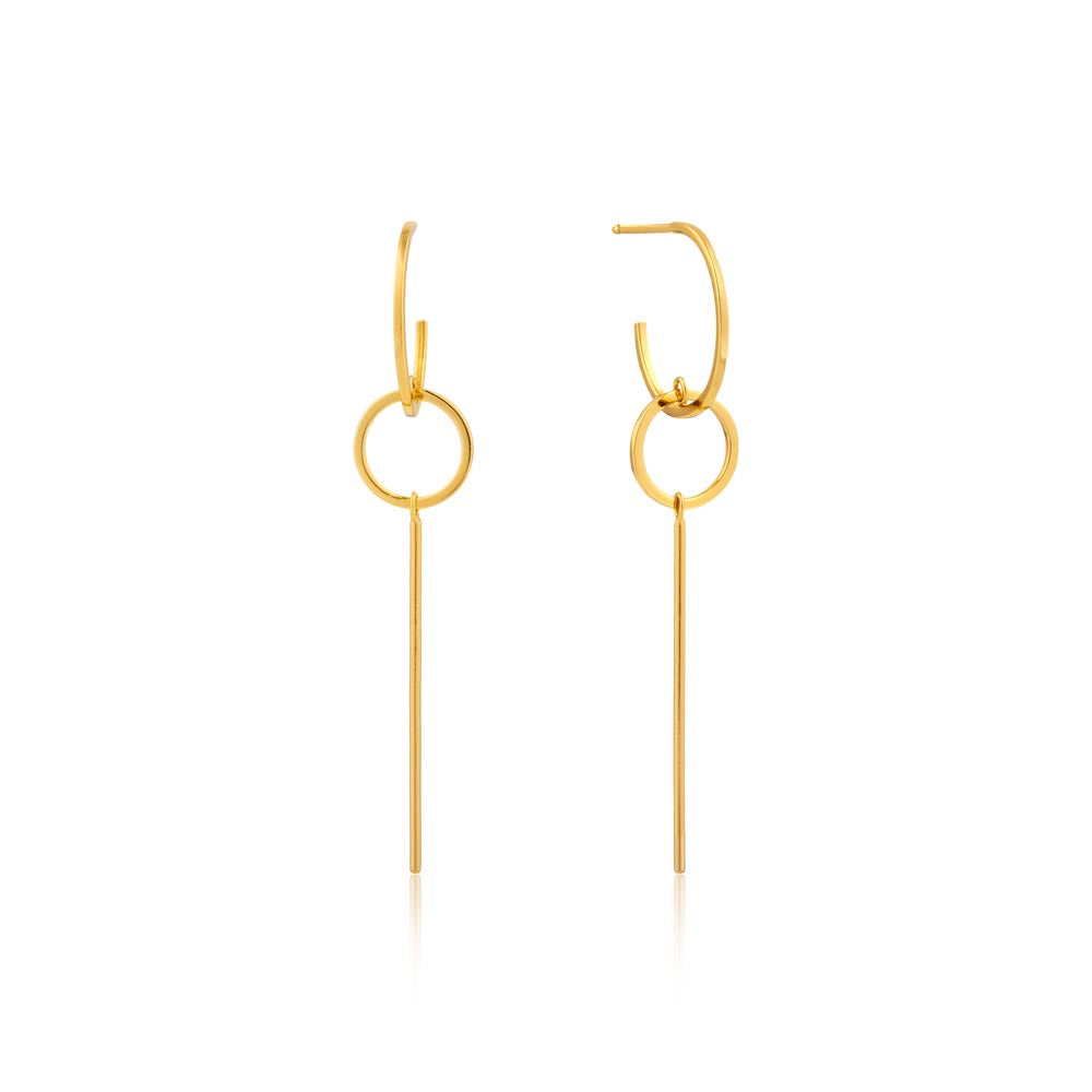 Modern Solid Drop Earrings - Ania Haie Jewellery