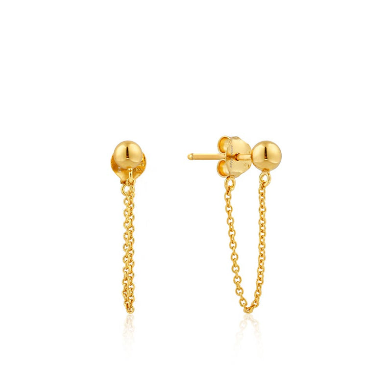 Modern Chain Stud Earrings - Ania Haie Jewellery