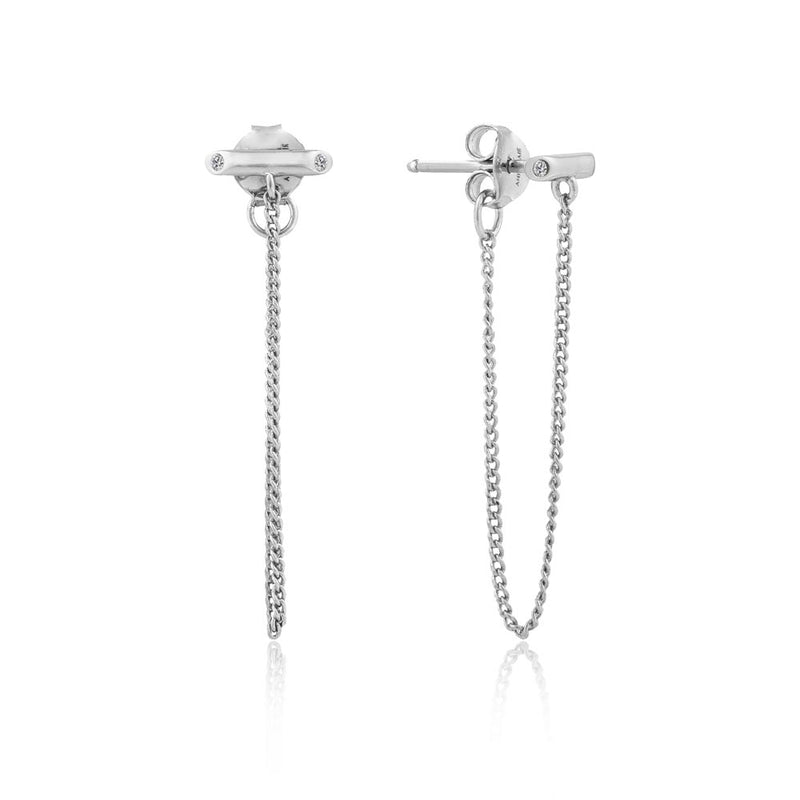 Shimmer Chain Stud Earrings - Ania Haie Jewellery