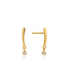 Shimmer Bar Stud Earrings - Ania Haie Jewellery